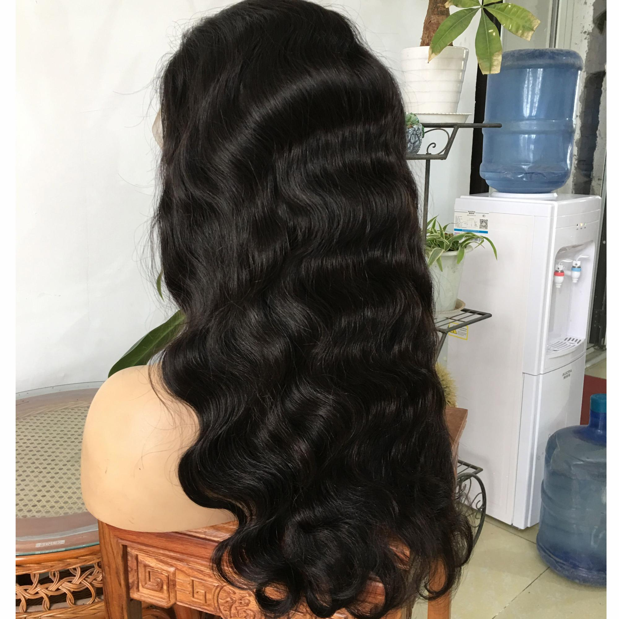 180% density glueless body wave 8a grade raw virgin brazilian hair lace front wig human hair wig