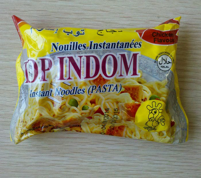 65g instant noodles chicken flavour bag packing