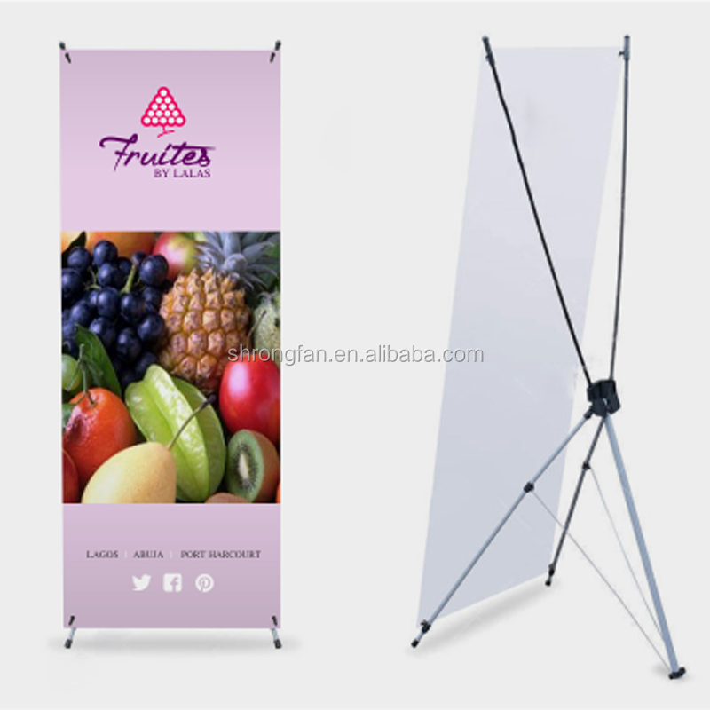 PVC Flex Banner Fruit Vegetable Poster X Banner Stand For Advertising Banner