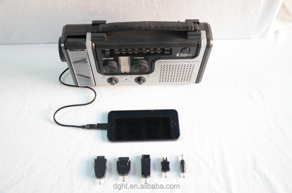 Hot selling Solar charging Mobile Flashlight solar charge radio
