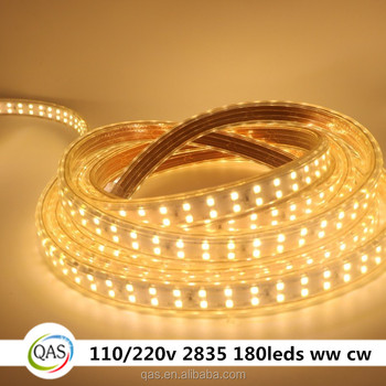 Waterproof ac 220v dual row 180leds 2835 ww cw led flexible strip waterproof ac 220v dual row 180leds 2835 ww cw led flexible strip lighting ce rohs aloadofball Image collections