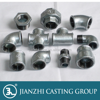 Hot dip galvanized Beaded threaded malleable iron pipe fittings