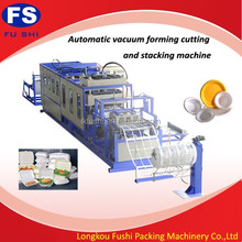 disposable food container production line/automatic pizza box making machine