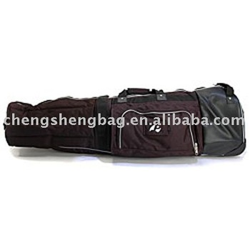 Nylon black surf longboard bag