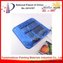Art Supply Nanchang Professional Brush Manufactory Blue Bag 13pcs Badger Brush Badger Hair Paint Brush