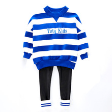 HSMMC DK17260 Low Price Wholesale Sets Cotton Stripe Clothes For Children