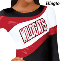 Cheer dance apparel adult sublimation long sleeve cheerleading uniform tops customized china manufacturer