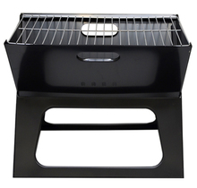 X Shape portable rectangular charcoal bbq grill