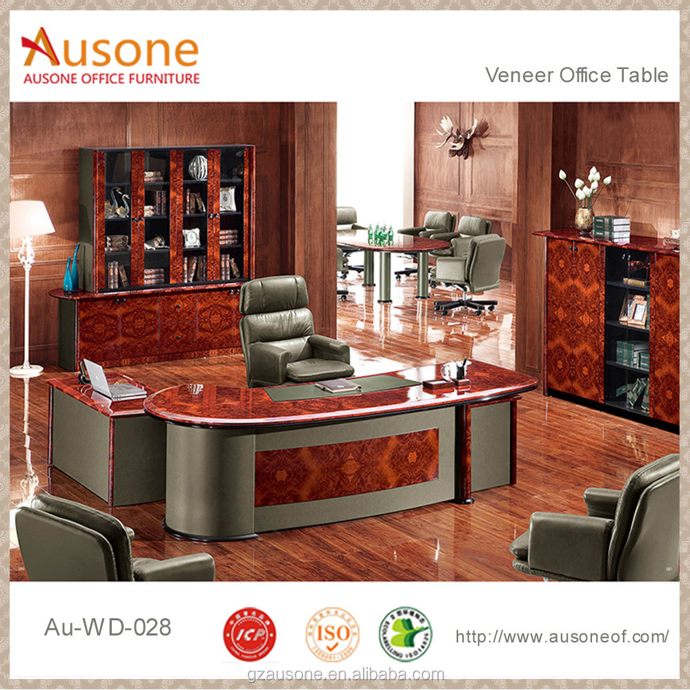 Manager executive luxury l shape modern oval shape desk table office