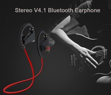 2015 new model sports ear hook wireless headphones bluetooth headset stereo for mobile phone
