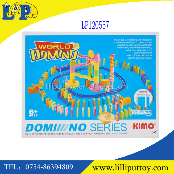 New style,new promotion toys ,build block domino,plastic domino toys