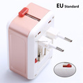 Hot sale wholesales 2.1A universal USB European travel adapter charger plug US TO EU for Mobile phone computer usage