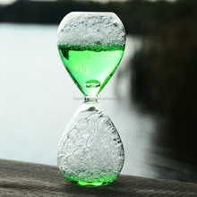 Kids novelty glass craft bubble water liquid hourglass for sale