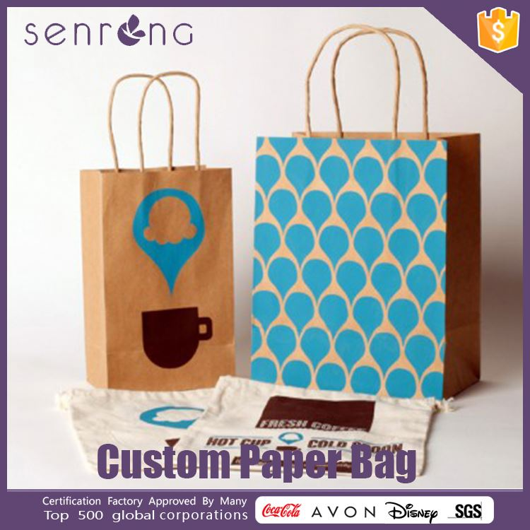 violet paper bag grocery kraft paper bag