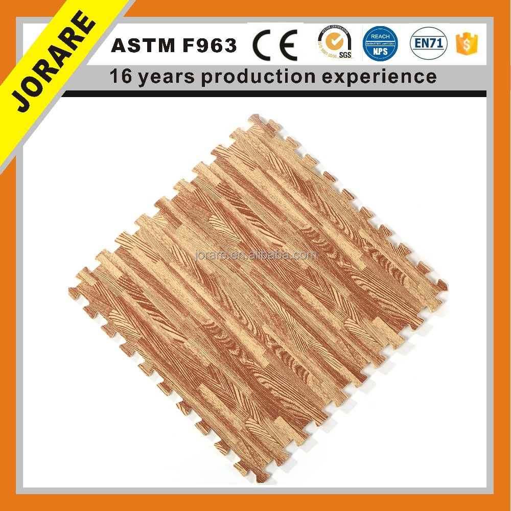 60*60 Wood Grain EVA Puzzle Jigsaw Foam Mat Children Creeping Environmental Safety Mat