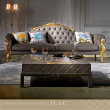 Luxury AS02 living room sofa with solid wood carving from JL&C furniture lastest designs 2014 (China supplier)