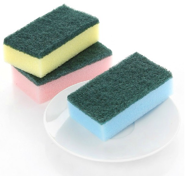 Free Shipping, Clean Cookware Bowl Thickening Super Cleaning Sponge 6 pcs/lot, Drop Shipping, IC0018