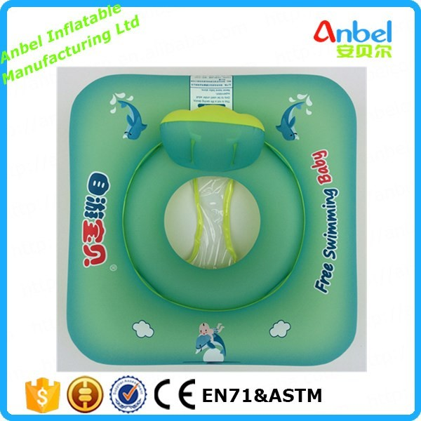 Anbel Baby quadrate Inflatable Swimming Float Swim seat with lazyback for baby