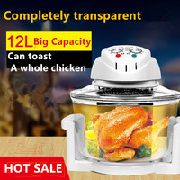 air deep fryer, air deep fryer without oil,Convection oven Cooking Toaster Oven 12L Halogen Oven Household