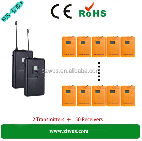 2016 buy wireless tour guide system/radioguide/tour guide equipment for visiting, AAA battery model WUS800R, 200-300meters