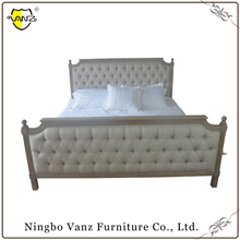 BBU16704 Best Price High Quality king size luxury bed frame solid antique bedroom furniture carved wood headboard