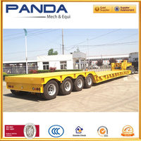 Panda detachable gooseneck low bed trailer 100 ton, low bed truck trailer