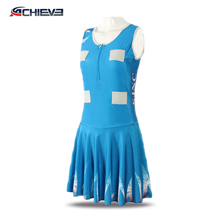 Customize women's netball dresses/100%polyester lycra