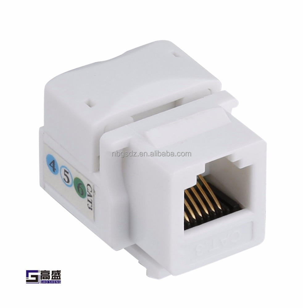Good Quality Network Moudlar Connector RJ45 Cat5e Cat6 UTP Female Keystone Jack