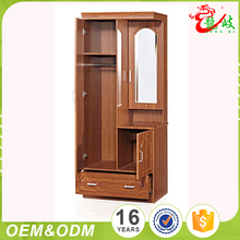 Latest Design First-Rate Quality Modern Furniture Wood Wardrobe Cabinet Trunk With Mirror