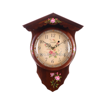Antique wooden unique shape wooden wall clock