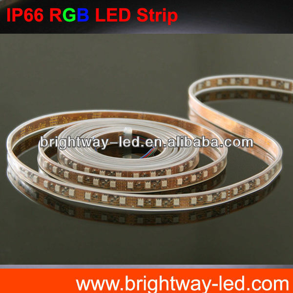 Silicon tube waterproof SMD3528 Flexible led strip IP66