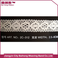 Hot selling cotton embroidery lace trims with CE certificate