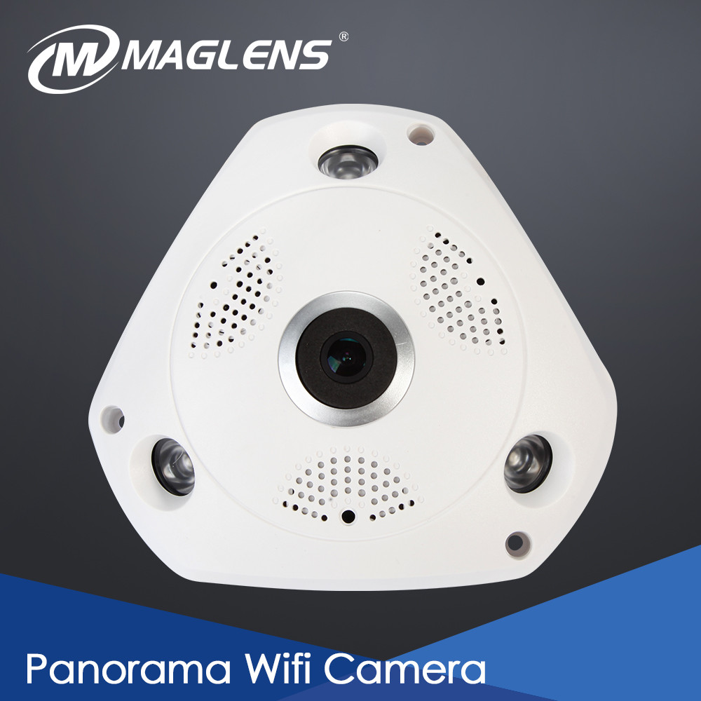 Night Vision Support Onvif P2P 1.44mm Fisheye Lens <strong>1080P</strong> Full HD Panorama IP Camera