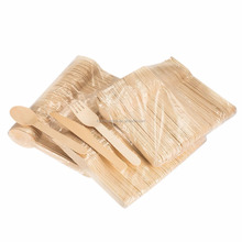 Disposable Biodegradable Bulk Wooden Cutlery 6.3'' Eco Friendly Cutlery Set