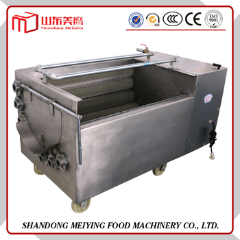 CE certification SS electric automatic commercial vegetable washer potato peeler machine