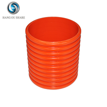 zhejiang china orange red waterproof double wall corrugated pvc connection pipe