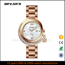 2017 new style OEM manufacturer luxury diamond women watch quartz watch lady