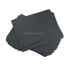 150g virgin pulp thin black cardboard in sheet with smooth finished