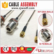 N Male to RP SMA Female Jumper Cable Assembly with rg402 coaxial cable