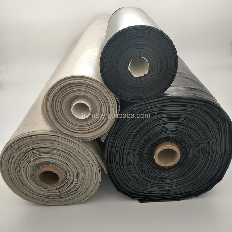 Clear/ Black plastic construction poly film 20' x 100' 6 mil for vapor barrier