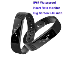 ip67 waterproof heart rate monitor veryfit smart wristband