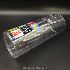 Plastic blister cylinder packaging /PVC clear tube gift boxes /round tube packaging for gifts