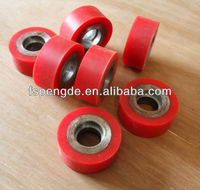 polyurethane rubber coated steel wheel