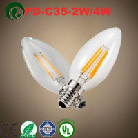 dimmable 4w c35 led filament bulb c35 led wooden filament candle bridge light dimmable 4w c35 led