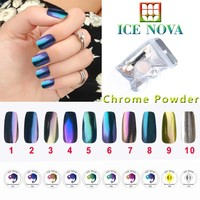 Nail polish gel beauty for 10 colors chrome pigment polish