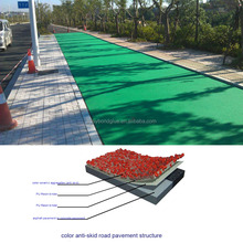 A durable high skid and slip resistant pavement marking material