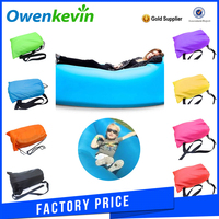 Factory price hangout inflatable sleeping bag travelling camping laybag air bean bag chair