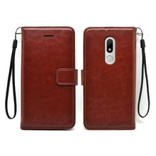Flip PU leather Wallet case for moto M