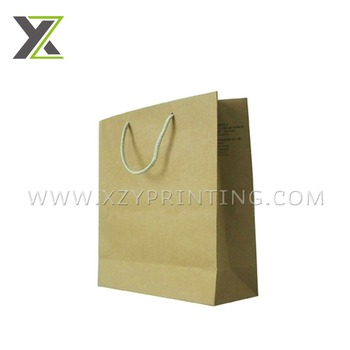 Recycled high quality mini kraft paper gift bag