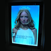 acrylic photo frames magic mirror Advertising display, sensor light box